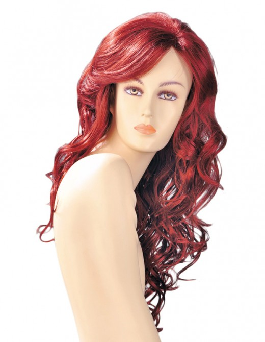 Dareen Red Wavy Long Wig