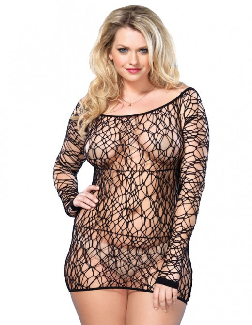 Leg Avenue Web Net Mini Dress