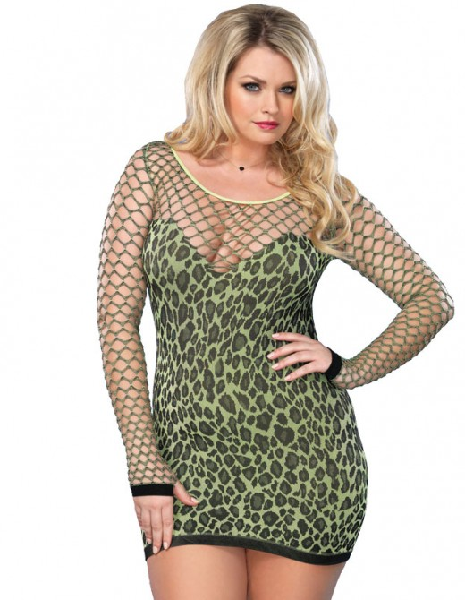 Leg Avenue Seamless Leopard Minidress