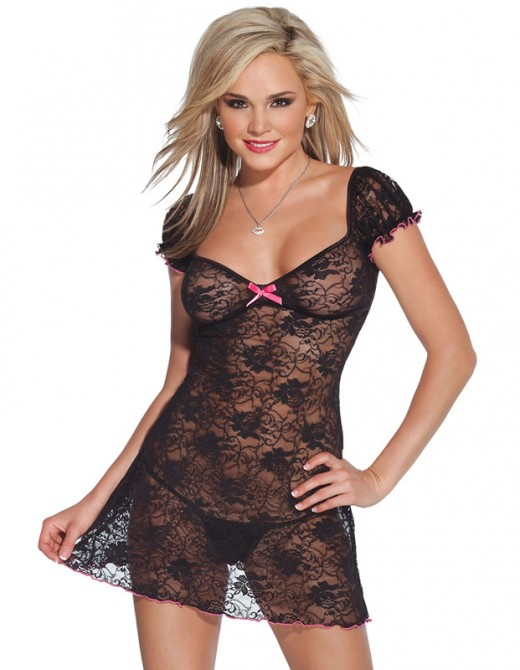 Coquette Kissable Lacey Dress