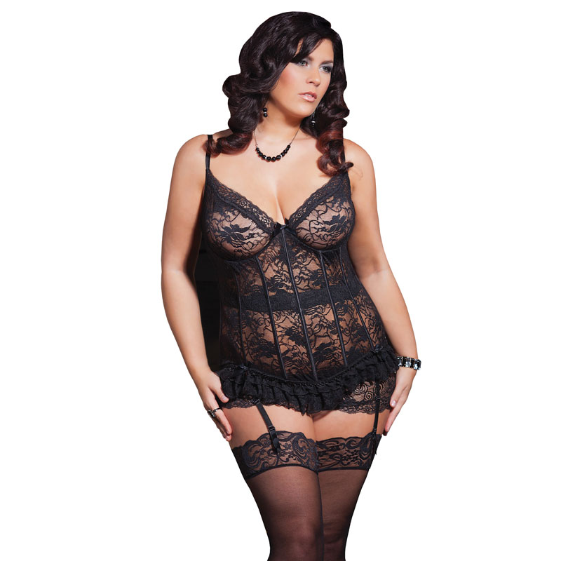Coquette Stretch Lace Bustier