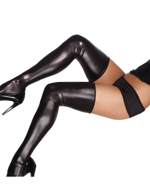 Coquette Wet look Stockings